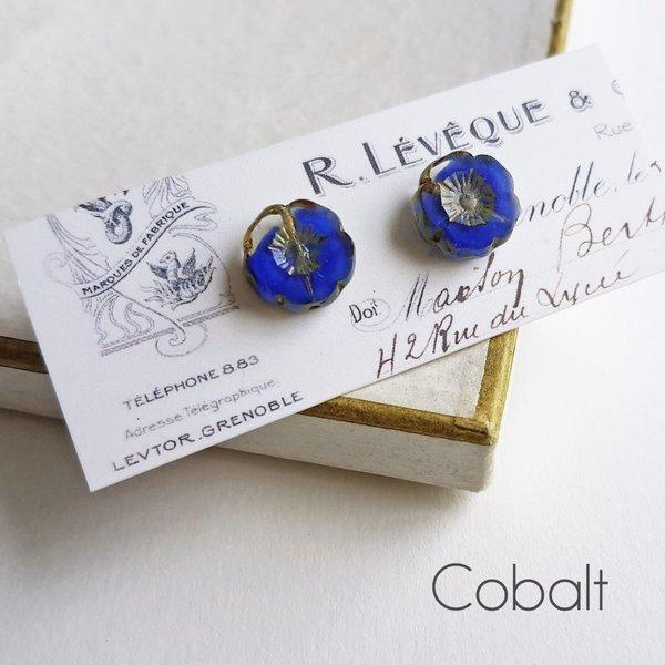 Bohemia Cobalt Ohrstecker 29