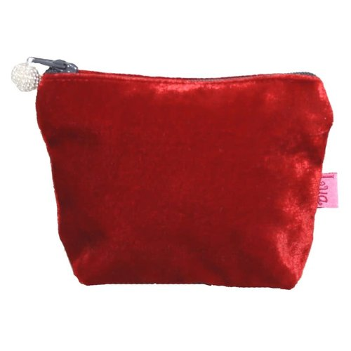 LUA Mini Velvet Purse Red 296