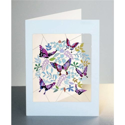 Forever Cards Purple Butterflies Laser cut card