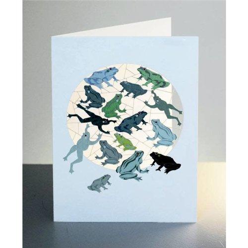 Forever Cards Tarjeta de corte láser de ranas