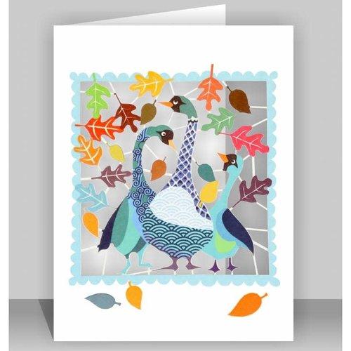 Forever Cards Autumn Geese Lasergeschnittene Karte