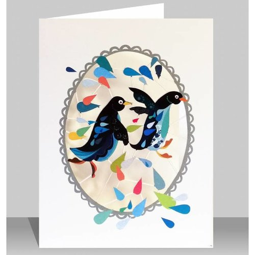 Forever Cards Penguins Laser cut card