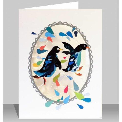 Forever Cards Pinguine Laser geschnittene Karte