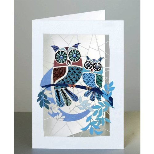 Forever Cards Owls and Moon Laser cut card