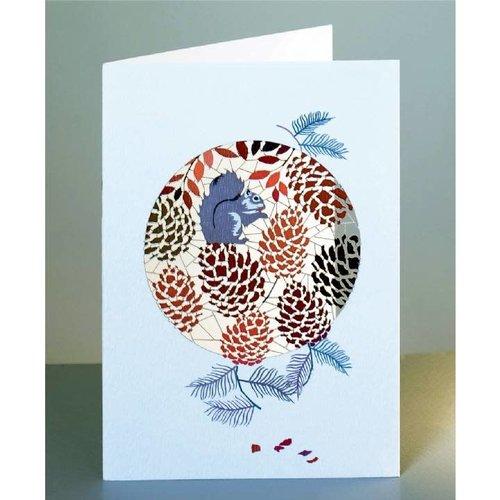 Forever Cards Eichhörnchen und Zapfen Lasergeschnittene Karte