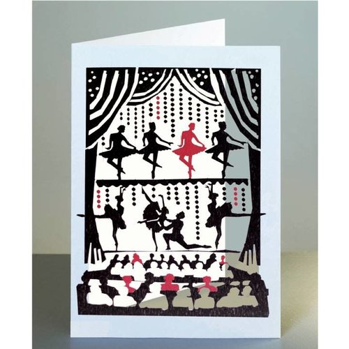 Forever Cards Ballet Dancers Laser cut card