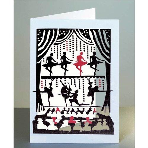 Forever Cards Balletttänzer Lasergeschnittene Karte