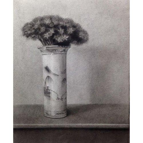 Linda Brill Sedum en un jarrón chino Lámina giclée 025