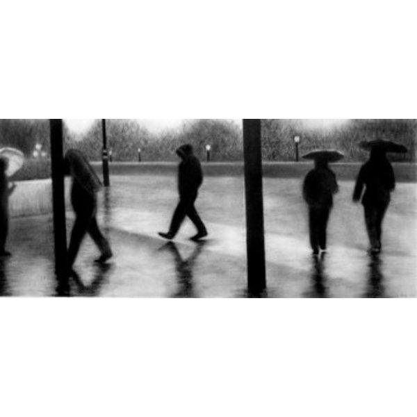 Regen London Giclée-Druck 023