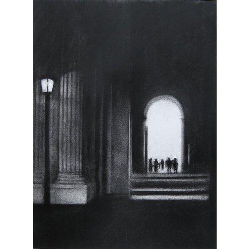 Linda Brill Lámpara del Louvre Lámina giclée 028