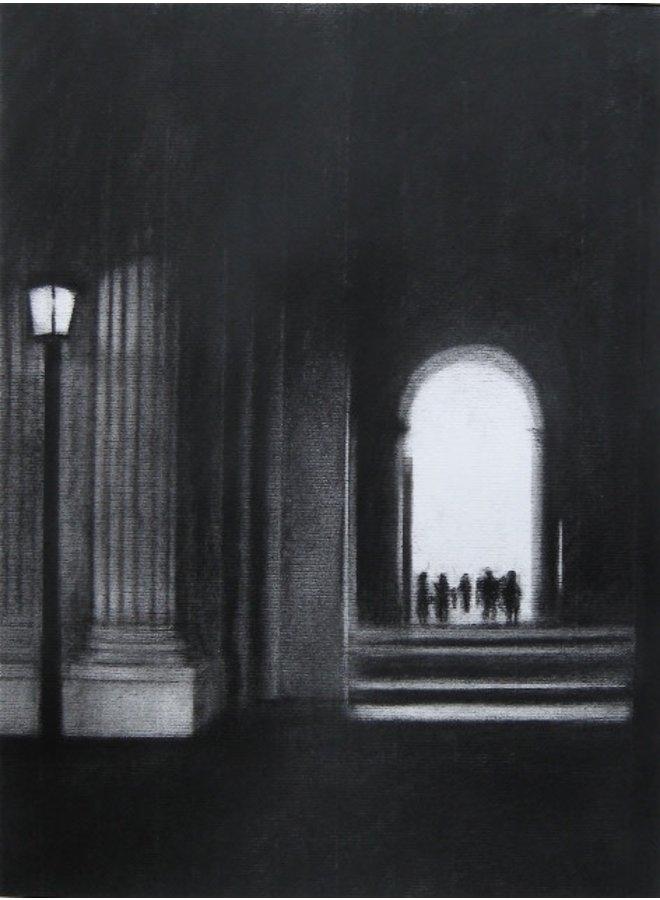 Louvre Lamp Giclée-Druck 028