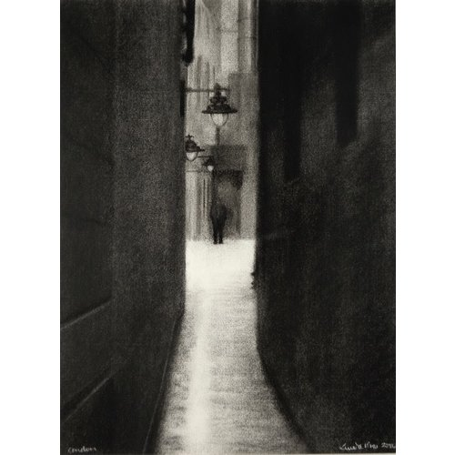 Linda Brill London Alley Giclee Print 027