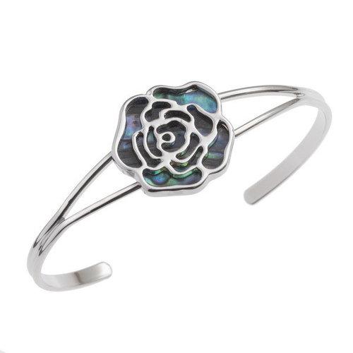 Tide Jewellery Rose Intarsien Paua Muschel Armreif T353