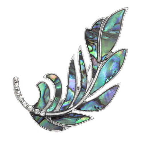 Tide Jewellery Feder-Paua-Muschel-Brosche 136