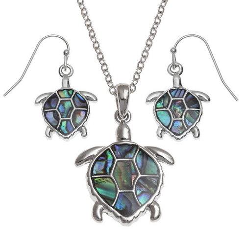 Tide Jewellery Turtle Paua Shell necklace 101