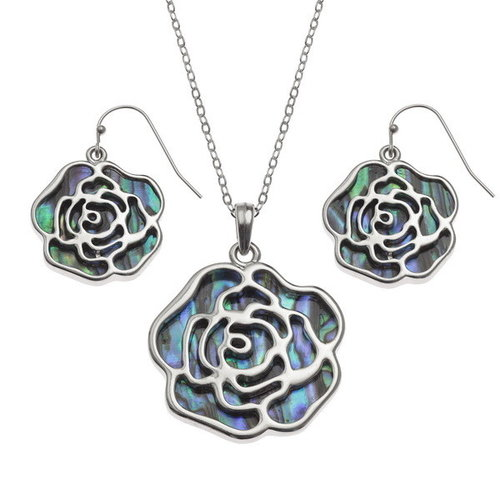 Tide Jewellery Rose Inlaid Paua shell  necklace T461