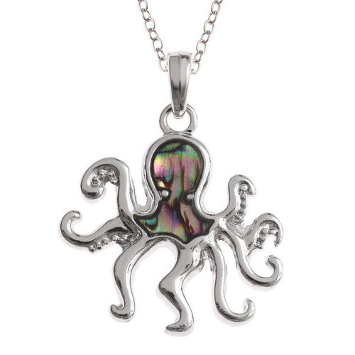 Tide Jewellery Octopus Paua Inlay Shell Halskette T302