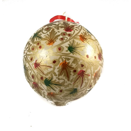 New Overseas Traders Bauble large classic paper mache 8cm