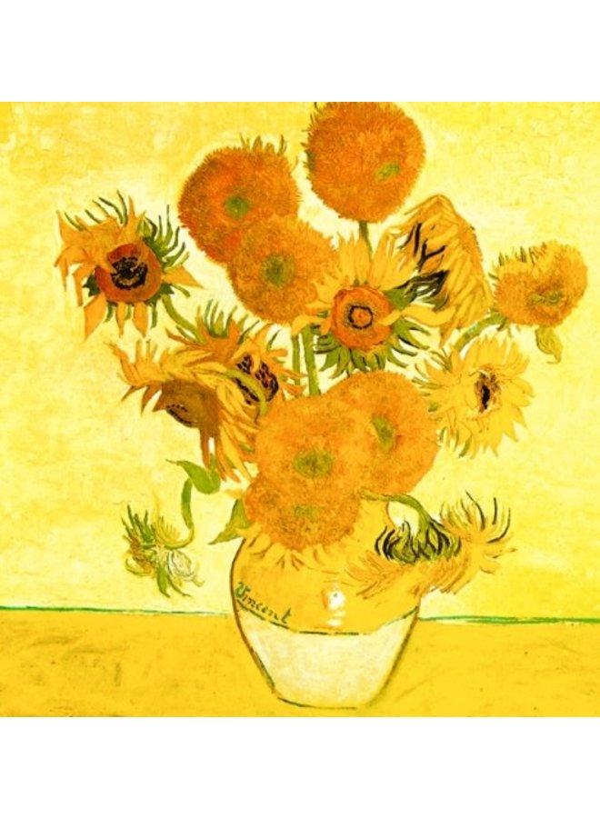 Sonnenblumen ny Van Gogh 140x140mm Karte