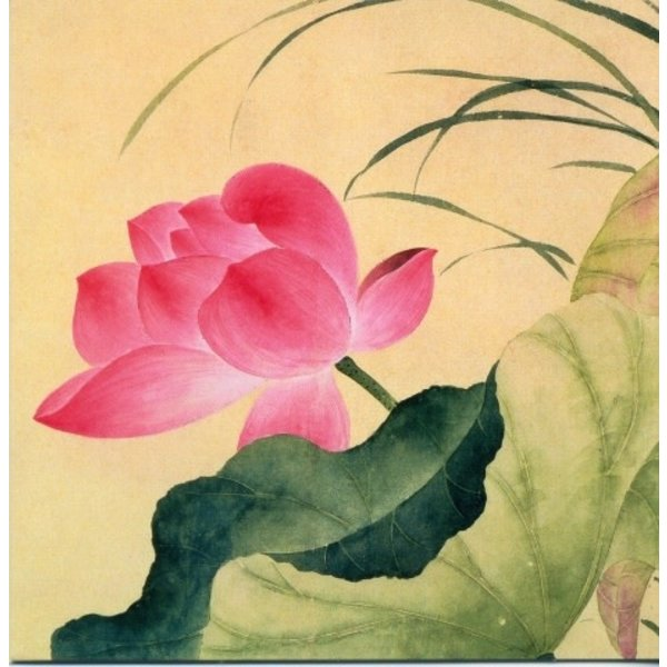 Lotusbloem door Yun Shou-Ping 140x140mm kaart