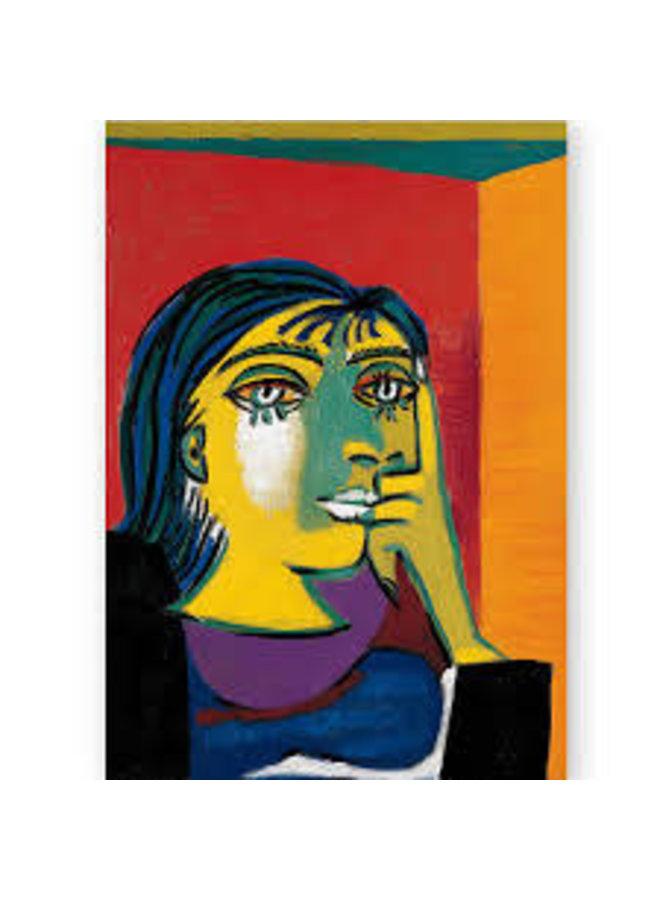 Portrait of Dora Maar by Picasso Artists Postcard