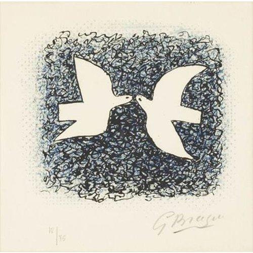 Artists Cards Couple d'oiseaux by Braque Artists Postcard
