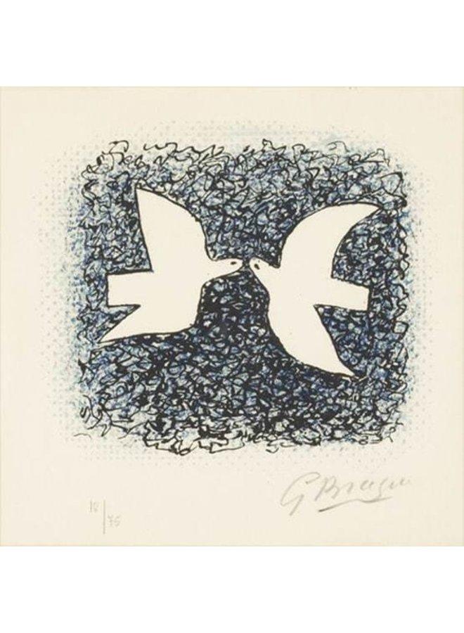 Couple d'oiseaux by Braque Artists Postcard