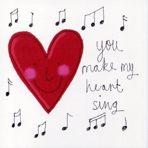Artists Cards You Make my Heart Sing by Sophie Harding 140x140mm card