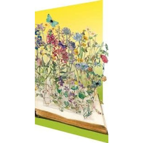 Roger La  Borde Book of Flowers  Su Blackwell Laser Card