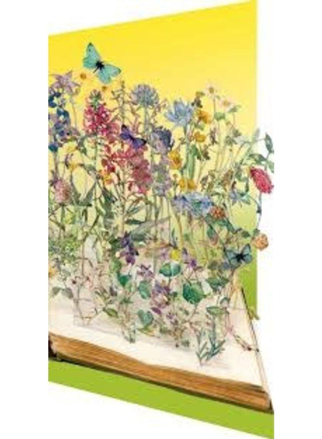 Book of Flowers  Su Blackckwell Laser Card