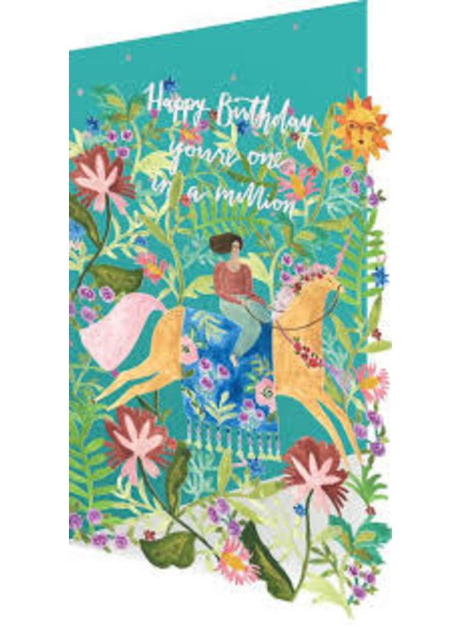 One in a Million  by Rosie Harbottle Laser Card