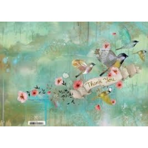 Roger La  Borde Graceful Birds Thank you  by Kendra Binney  Card