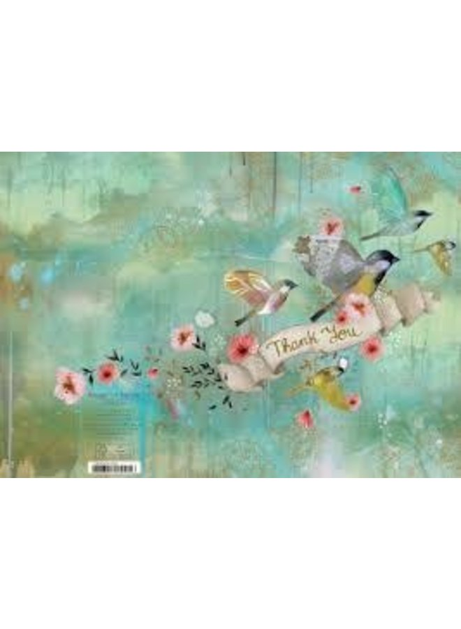 Graceful Birds Thank you  by Kendra Binney  Card