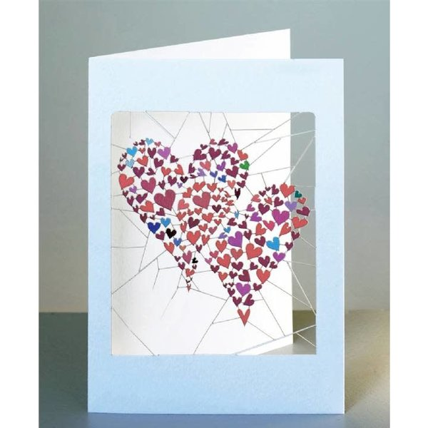 Two Hearts Laser cut card
