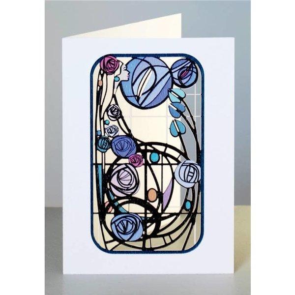 Lady in Purple  Laser cut card