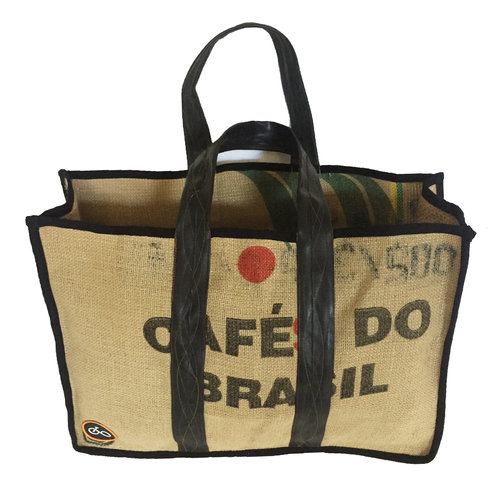 Cylcle Of Good Recylced Coffee Sack & Inner Tube Shopper