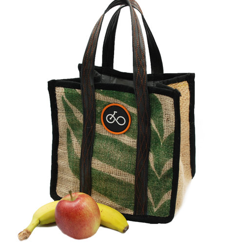 Cylcle Of Good Recylced Coffe Sack & Inner Tube Lunch Bag