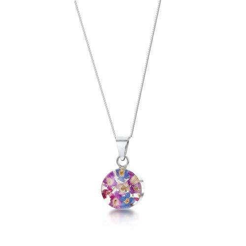 Shrieking Violet Round puple haze med. pendant silver 001