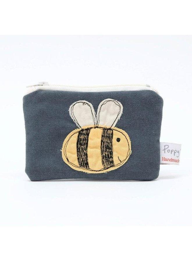 Biene gestickte Geldbörse 01