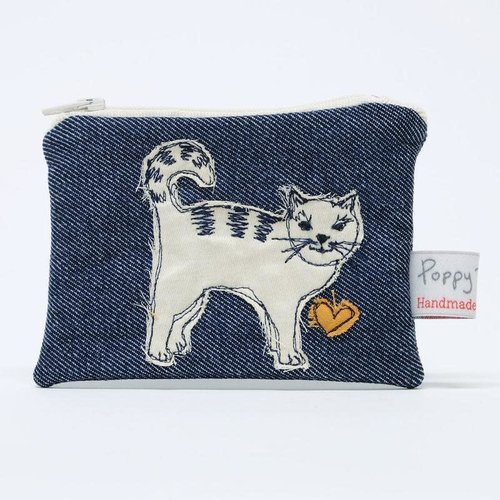 Poppy Treffry Cat Embroidered Coin Purse 02
