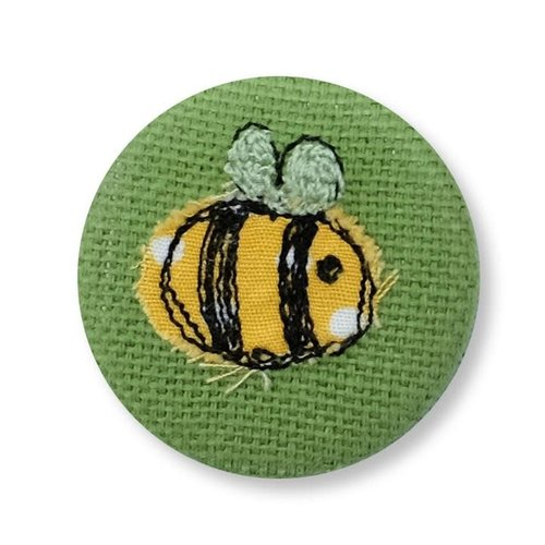 Poppy Treffry Bee embroidered  badge / brooch 12