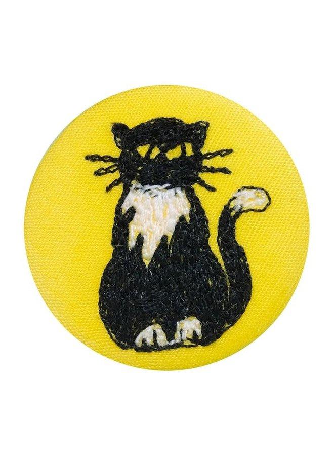 Katze gesticktes Abzeichen / Brosche 13