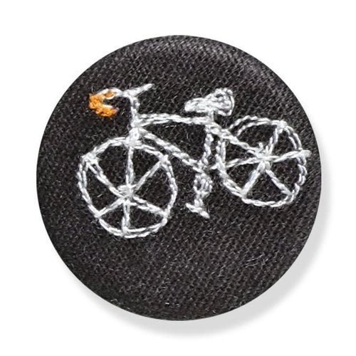 Poppy Treffry Bike embroidered  badge / brooch 14