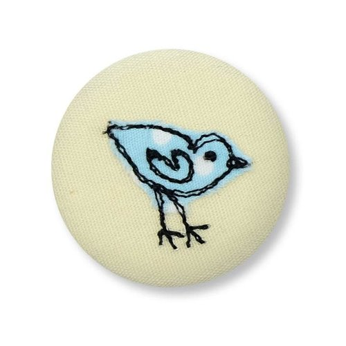 Poppy Treffry Little Bird embroidered  badge / brooch 16