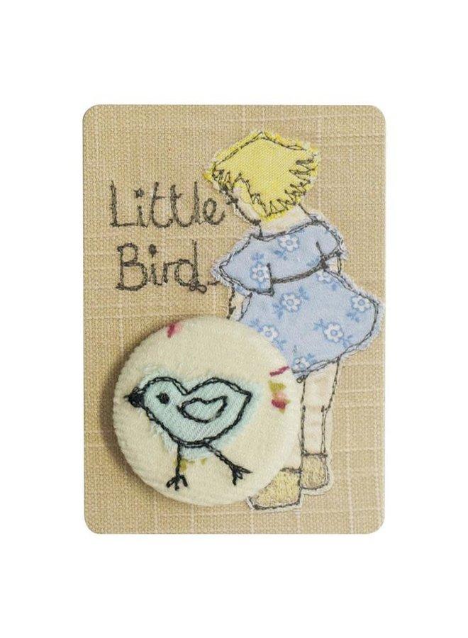 Little Bird gesticktes Abzeichen / Brosche 16