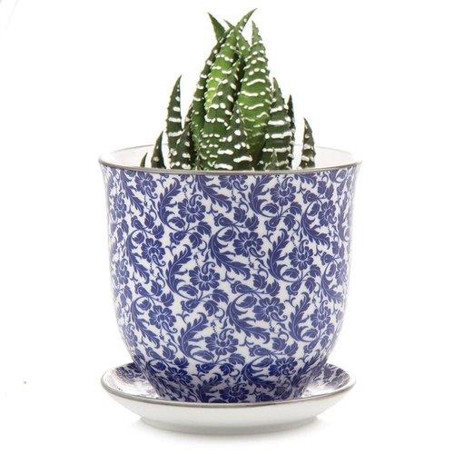 Chive Mini jardineras de cerámica Morris Blue Liberte 003