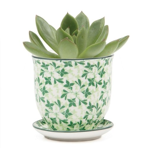 Chive Green Leaves Liberte ceramic mini planters 004