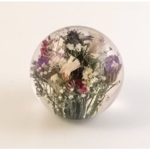 Hafod Mixed real flower paper weight 12