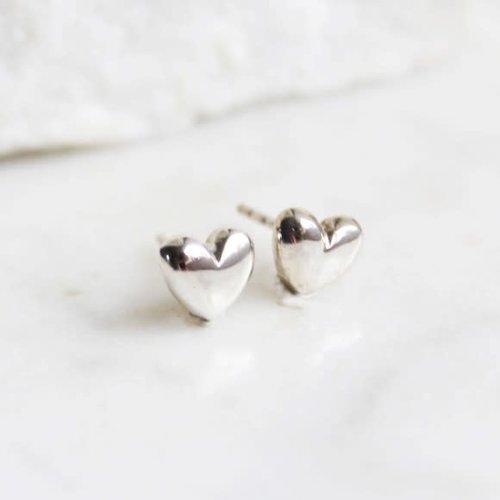 Lime Tree Design Heart stud silver earrings 68