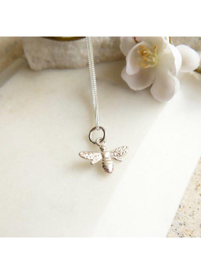 Biene kleine silberne Halskette